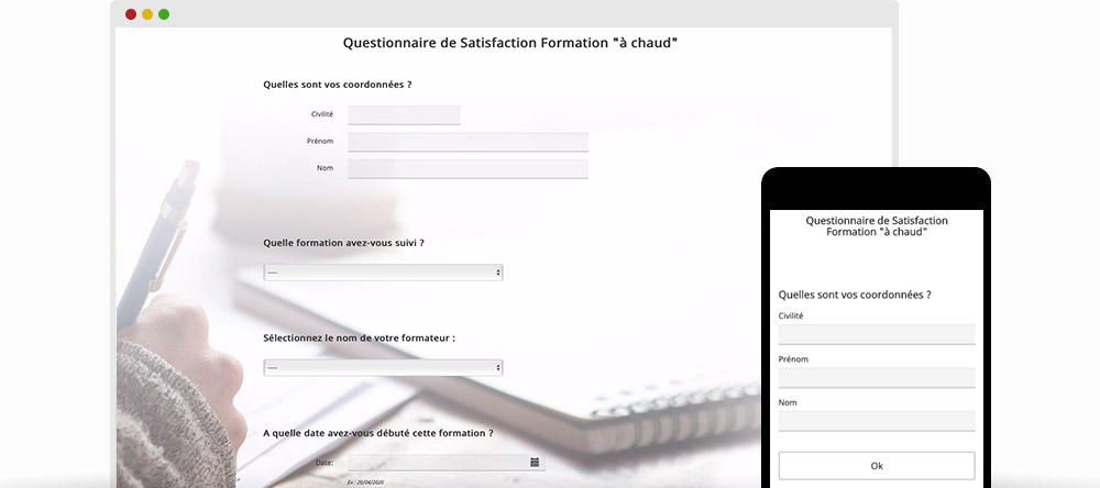 Certification Qualiopi : Questionnaires de satisfaction liés à la formation