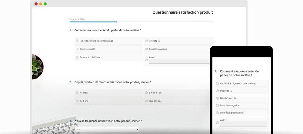 Exemple questionnaire satisfaction produit | Eval&GO